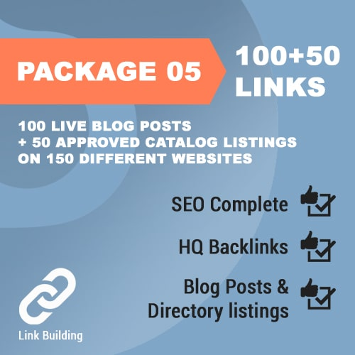 Package 05 – 100 Live Blog Posts + 50 Approved Catalog Listings on 150 different websites_promotionset