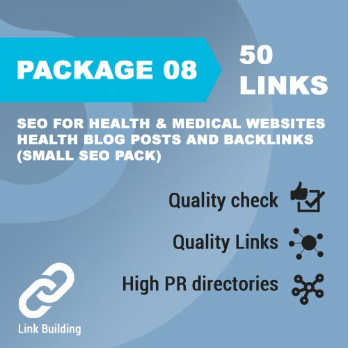 Package 08_SEO for Health & Medical Websites - Health Blog Posts and Backlinks_promotionset