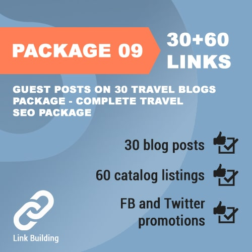 Package 09_Guest Posts on 30 Travel Blogs Package - Complete Travel SEO Package_promotionset