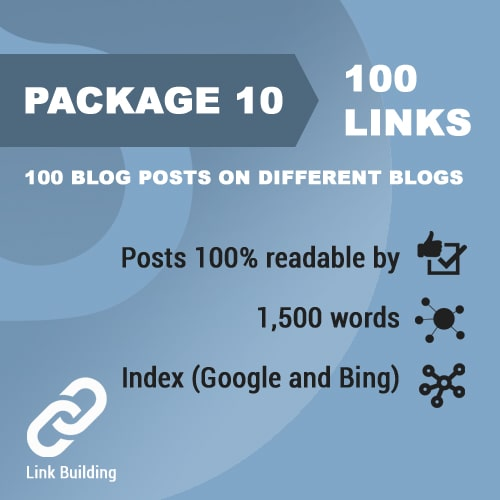 Package 10_100 blog posts on different blogs_promotionset